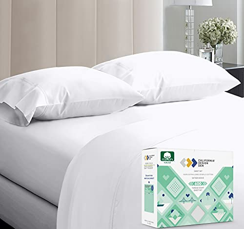 5-Star Hotel Quality 600 Thread Count 100% Cotton Sheets for Queen Size...