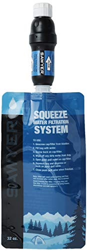 Sawyer Products SP129 Squeeze Water Filtration System w/ Two 32-Oz Squeeze...