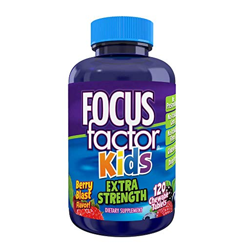 Focus Factor Kids Extra Strength Daily Chewable for Brain Health Support,...