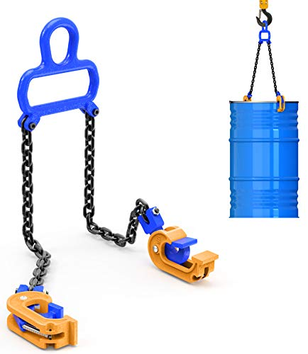 2021 Updated Chain Drum Lifter - 2000 lbs Capacity - Suitable for Blue...