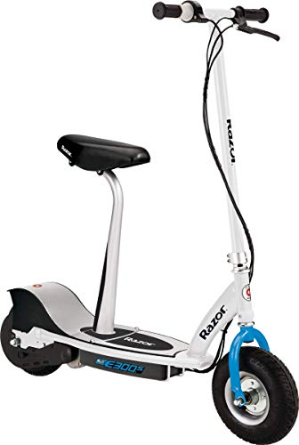 Razor E300S Seated Electric Scooter - 9' Air-filled Tires, Removable Seat,...