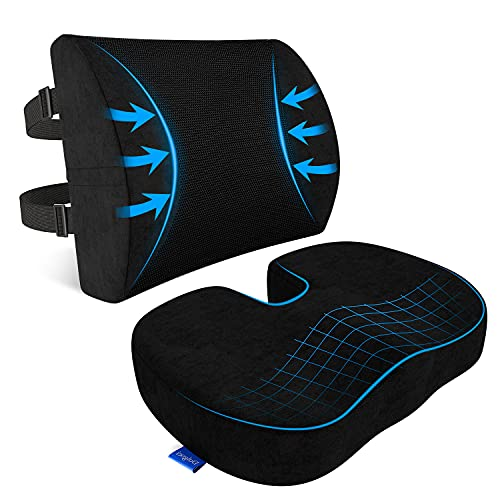 Seat Cushion, Seat Cushion for Office Chair, Lumbar Support Pillow for...