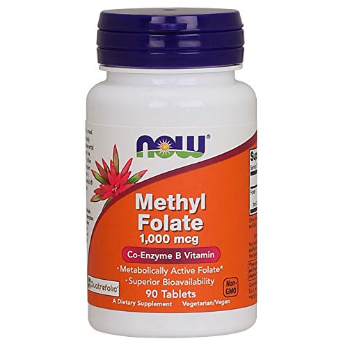 NOW Supplements, Methyl Folate 1,000 mcg, Metabolically Active Folate*,...