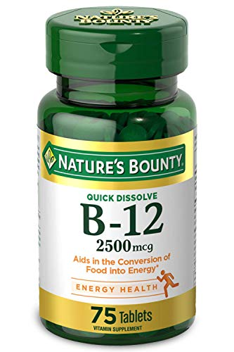 Nature's Bounty Vitamin B-12 Supplement, Supports Metabolism and Nervous...