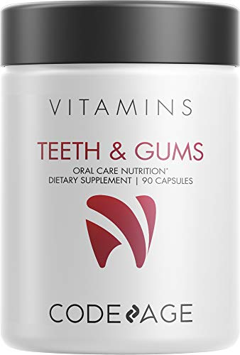 Codeage Teeth & Gums Vitamins + Oral Probiotics Supplement for Mouth -...