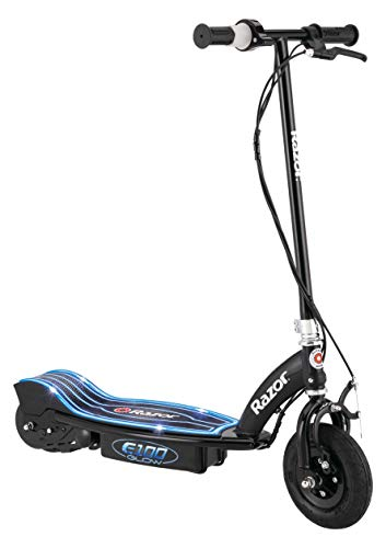 Razor E100 Glow Electric Scooter for Kids Age 8 and Up, LED Light-Up Deck,...
