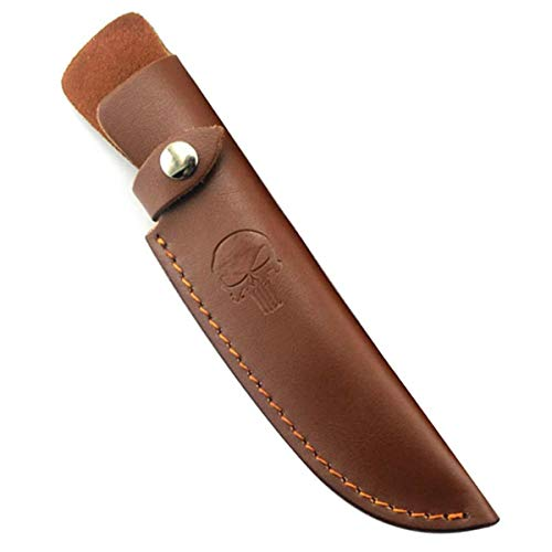 Fixed Blade Knife Sheath Leather Knife 6 inch Sheath Leather Case with Snap...