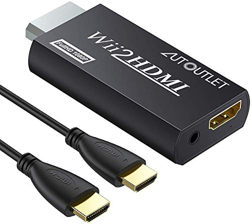AUTOUTLET Wii to HDMI Converter WII2HDMI Wii Signal to HDMI Support 720P...