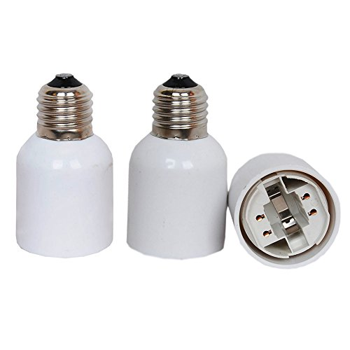 E27 to G24 Adapter,TWDRTDD 3 PACK E26/E27 Edison Screw to 4 Pin G24 Base...