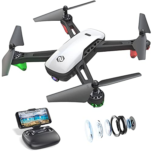 SANROCK U52 Drone with 1080P HD Camera for Adults and Kids, WiFi Live Video...