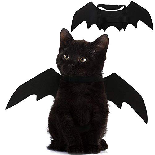 Pet Cat Bat Wings for Halloween Party Decoration, Puppy Collar Leads...