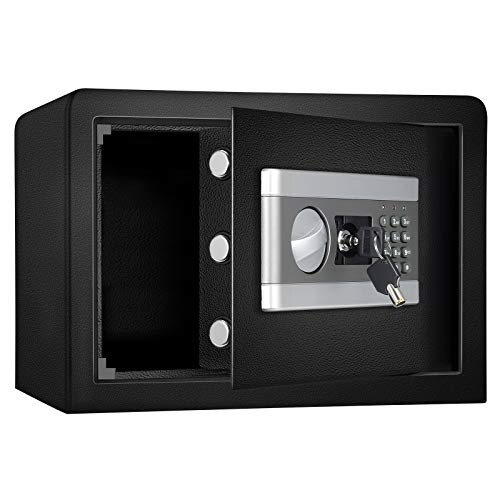 0.8 Cub Fireproof and Waterproof Safe Cabinet Security Box, Digital...