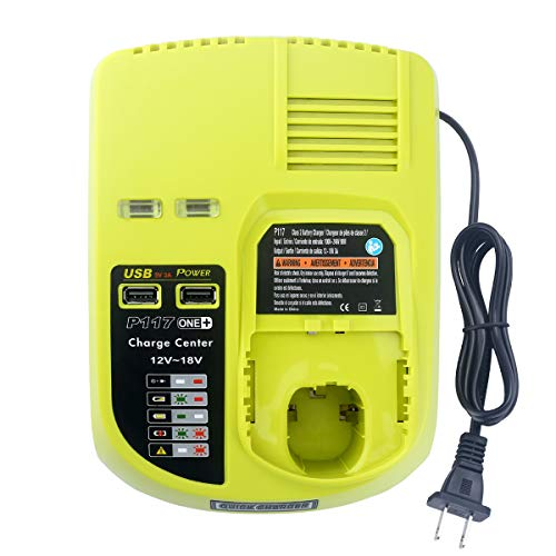 Elefly P117 Dual Chemistry 18V Battery Charger Replacement for Ryobi...