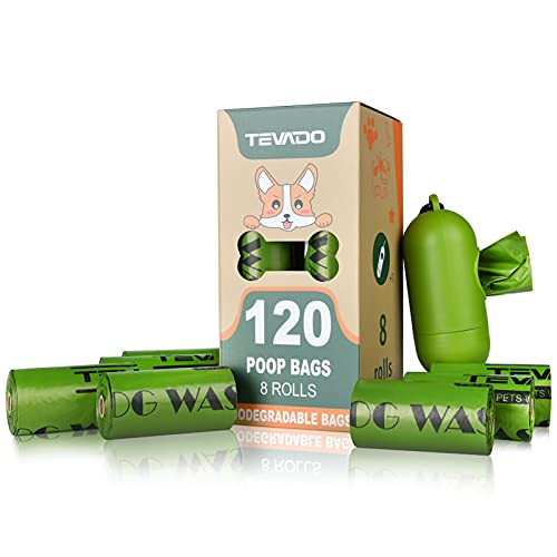 Tevado 120PCS Dog Poop Bag, Extra Thick Large Poop Bags for Dogs, Premium...
