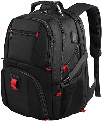 YOREPEK Backpack for Men,Extra Large 50L Travel Backpack with USB Charging...
