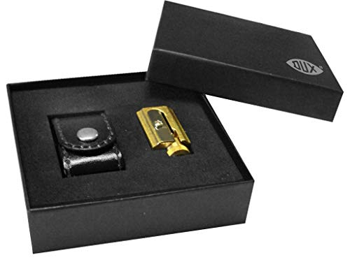 DUX Sharpener Made of Brass Adjustable with case DX4322-01, with Gift Box