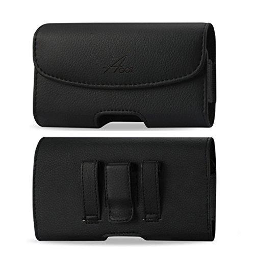 AGOZ for Doro 824 SmartEasy, Premium Leather Pouch Case Holster with Belt...