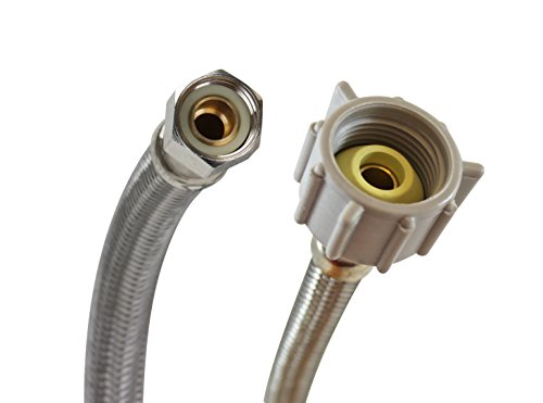 Fluidmaster B1T16 Toilet Connector, Braided Stainless Steel - 3/8 Female...