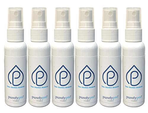 Purefypro Disinfectant Spray (1.7oz, 6 Pack) - No Rinse. No Residue. Kills...
