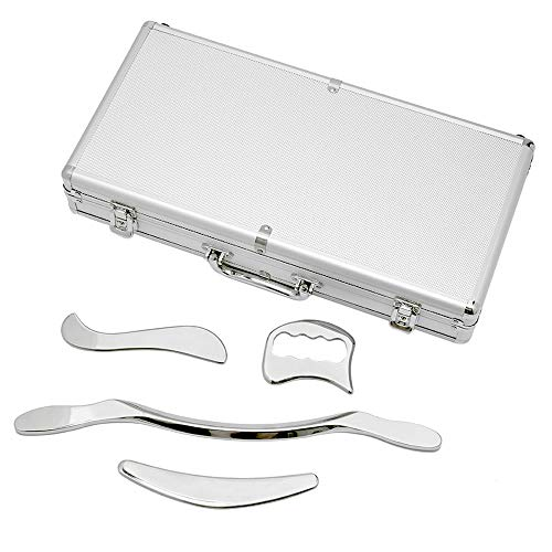 Stainless Steel Gua Sha Scraping Massage Tool Set - H-Brotaco IASTM Tools...