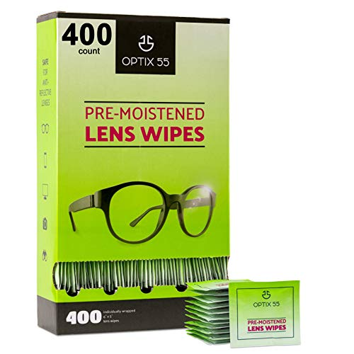 Eyeglass Cleaner Lens Wipes - 400 Pre-Moistened Individual Wrapped Eye...