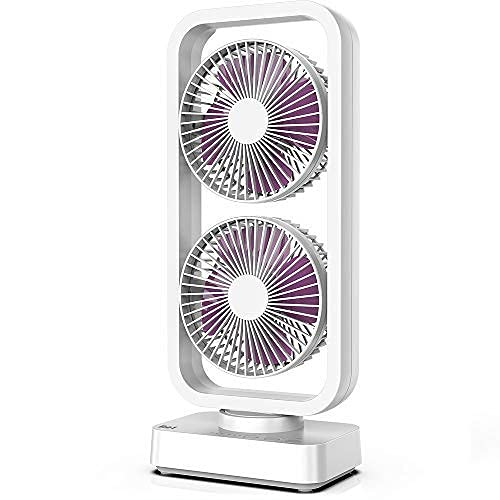 U/D Cordless Rechargeable Oscillating Tower Fan, 5000mAh Battery Operated...