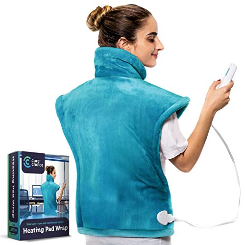 Cure Choice XL Electric Heating Pad for Back Pain Relief, Ultra Soft...