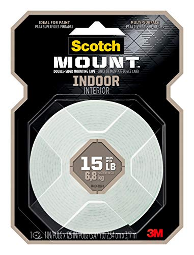 Scotch-Mount Indoor Double-Sided Mounting Tape 314H-MED, 1 in x 125 in