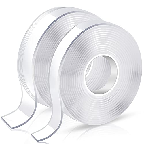Double Sided Tape Heavy Duty, Double Stick Mounting Adhesive Tape (2 Rolls,...
