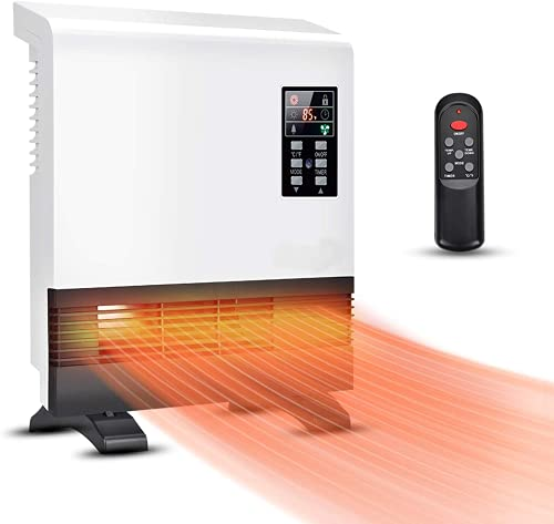 Electric Heater - 1500W Space Heater, Wall Mounted Room Heater with...