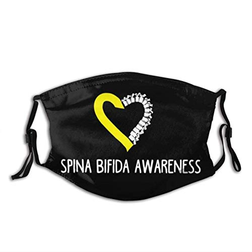 Spina Bifida AwarenFace Mask with Replaceable Filters Washable...