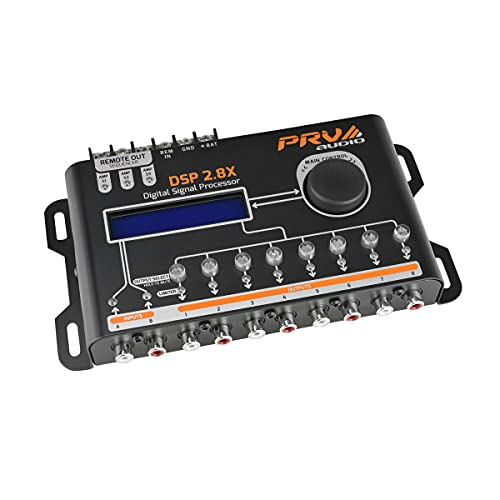 PRV AUDIO DSP 2.8X Car Audio Crossover and Equalizer 8 Channel Full Digital...