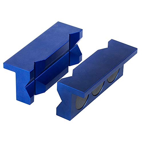 PTNHZ Aluminum 4' Vise Jaw Protective Inserts for Wide Array of Vices -...