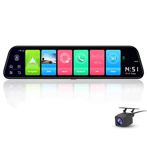 ShiZhen D50 12 inch Full Screen 4G Touch IPS Car Dash Cam Rear View Android...
