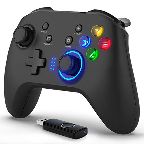 Forty4 Wireless Gaming Controller, Dual-Vibration Joystick Gamepad Computer...