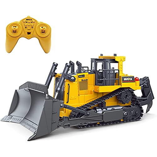 RC Bulldozer Remote Control 1/16 Full Functional Construction Vehicle,...