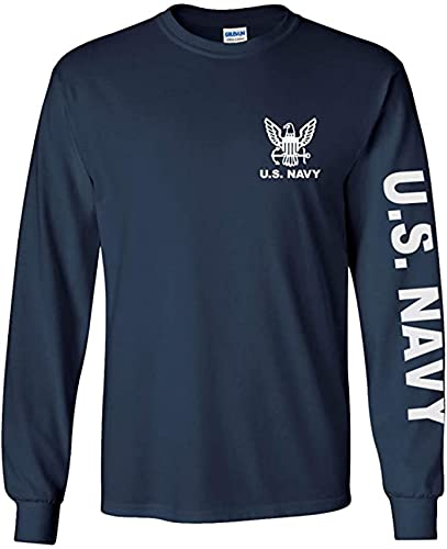 Armed Forces Depot U.S. Navy Long Sleeve T-Shirt. Navy Blue (Large, Navy...