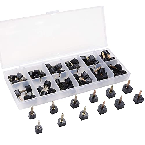 24 Pairs High Heel Tips Shoes Replacement Tap Caps,6...