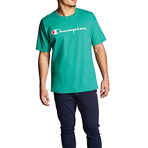 Champion Mens Classic Jersey Graphic Tee Kelly Green 2XL
