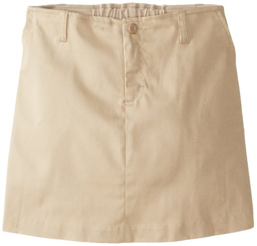 Classroom Big Girls' Stretch Fly Front Scooter Printed Skirt, Khaki, 8