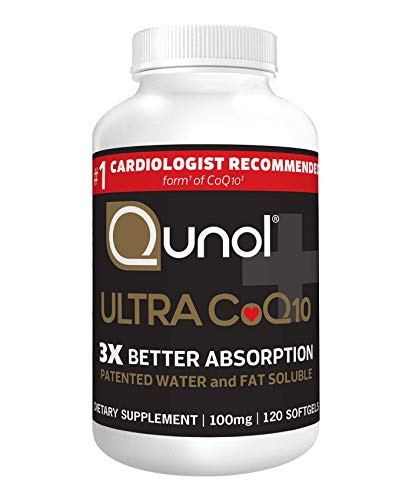 Qunol Ultra CoQ10 100mg, 3x Better Absorption, Patented Water and Fat...