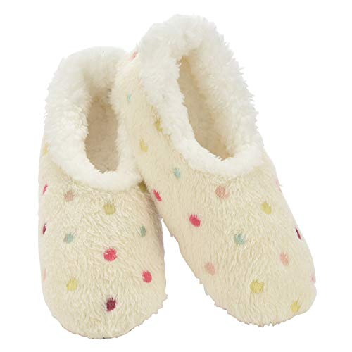 Snoozies Slippers for Women | Lotsa Dots Colorful Cozy Sherpa Slipper Socks...