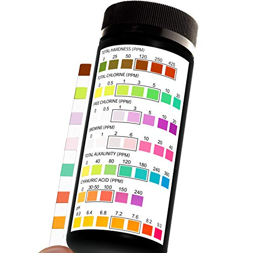 JNW Direct Pool and Spa Test Strips - 100 Strip Pack, Test pH, Chlorine,...