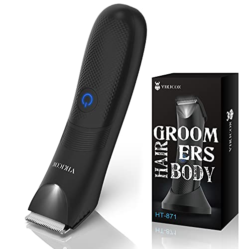 Electric Body Hair Trimmer and Shaver for Men, VIKICON Body Groomer for...