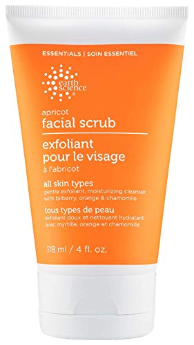 EARTH SCIENCE - Apricot Gentle Exfoliating Facial Scrub for All Skin Types...