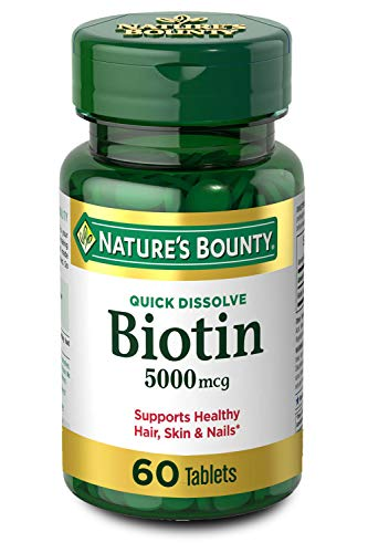 Nature's Bounty Biotin Supplement, Supports Healthy Hair, Skin and Nails,...