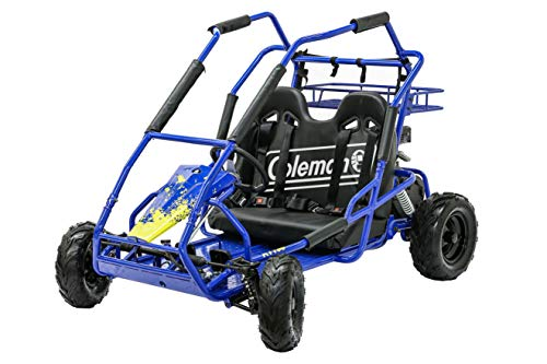 Coleman Powersports Off Road Go Kart, Gas Powered, 196cc/6.5hp, Blue...
