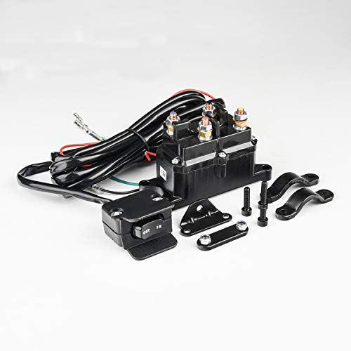 MaySpare 250A 12V Winch Solenoid Relay Contactor Winch Rocker Thumb Switch...