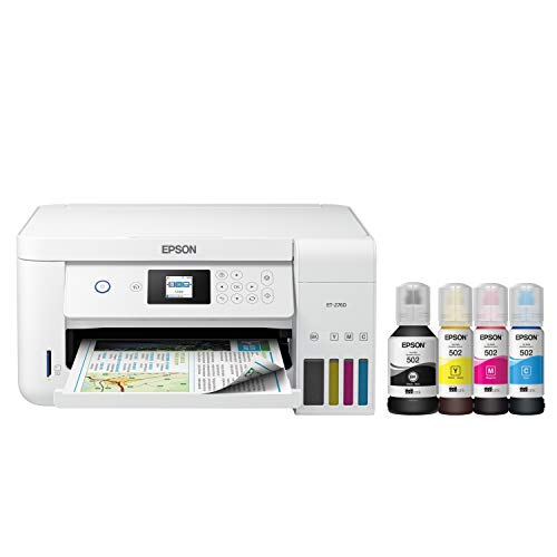 Epson EcoTank ET-2760 Wireless Color All-in-One Cartridge-Free Supertank...