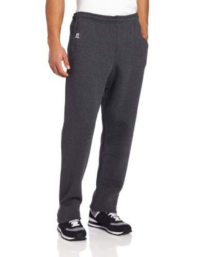Russell Athletic Men's Dri-Power Open Bottom Sweatpants with Pockets, Black...